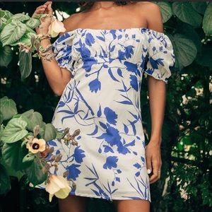 Lulus x Charlie Holiday Puff Sleeve Mini Dress